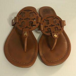 Tory Burch Miller Logo Vintage Vachetta Sandal 7